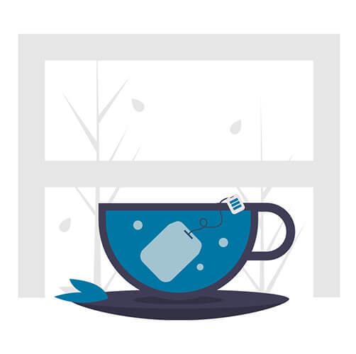 illustration cup of tea